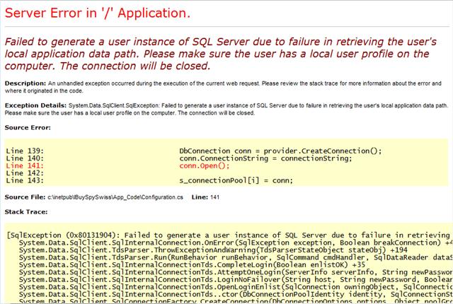.NET database-fejl
